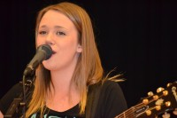 NEO Youth, Hayley Pritchard displays her musical talents for the audience