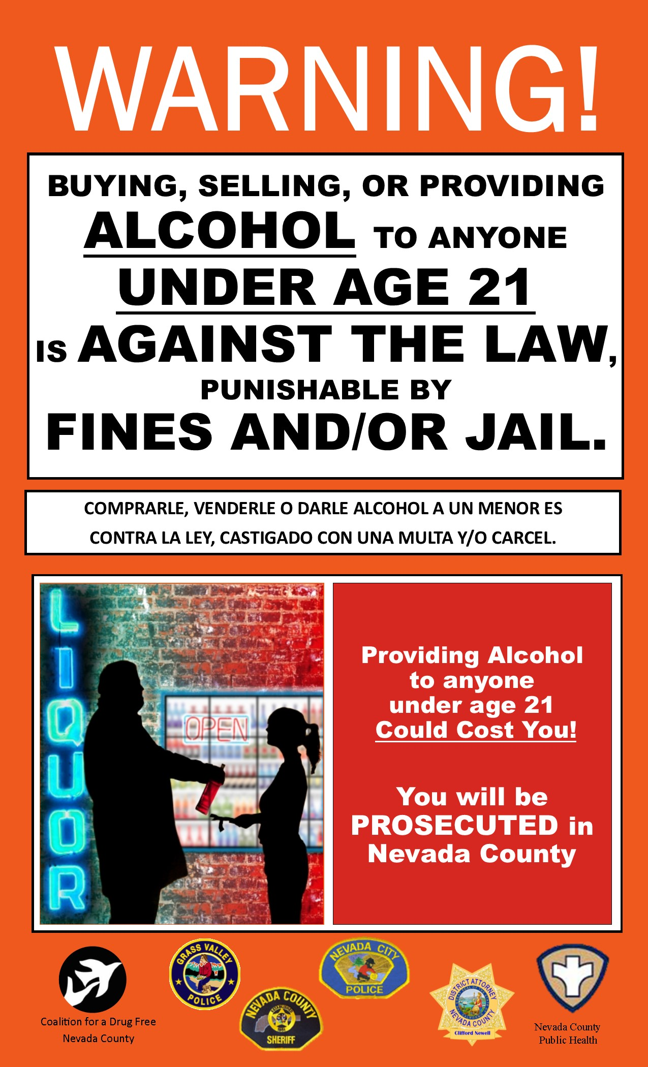 Free Purchasing » Nevada Retail Drug Prevent Of Raises And Signage Alcohol Campaign For Underage Awareness County Drinking Consequences Minors Providing To